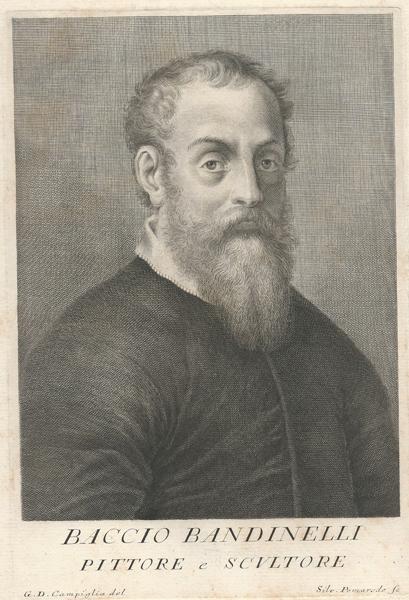 Silvio POMAREDE (Roma, attivo 1736-68) – BACCIO BANDINELLI PITTORE E SCULTORE da G. D. Campiglia