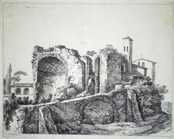 Franz RECHBERGER (Austria, 1771 – 1841) – ANTICHE ROVINE da Dietrich