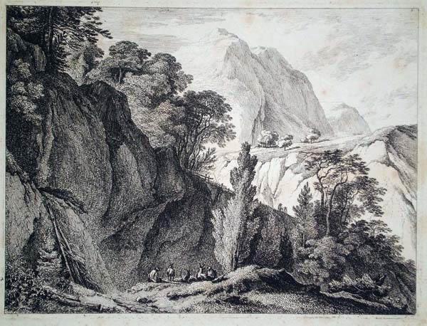 Franz RECHBERGER (Austria, 1771 – 1841) – PAESAGGIO MONTANO