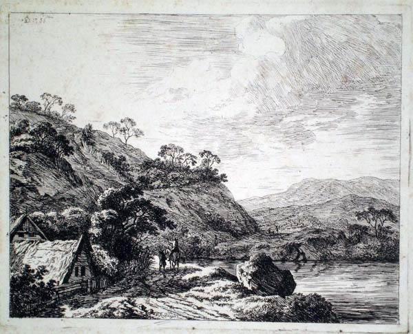 Franz RECHBERGER (Austria, 1771 – 1841) – PAESAGGIO (1756)