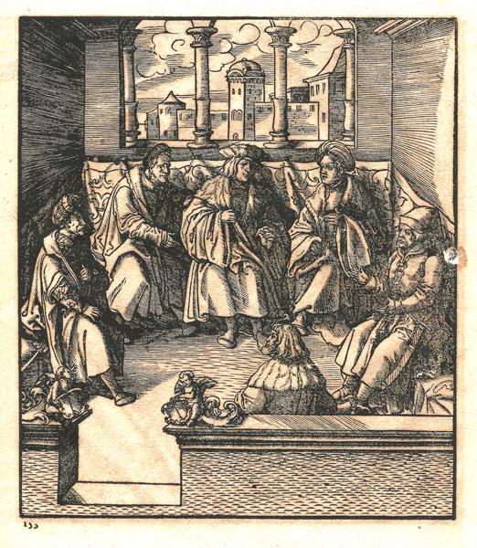Leonhard BECK (Baviera, circa 1480 – 1542) – ALTRO ACCORDO COL RE VERDE STIPULATO A PRESSBURG