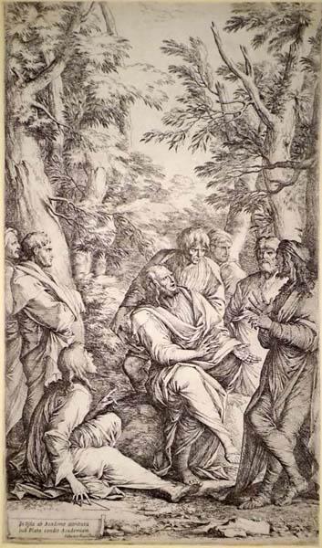 Salvator ROSA (Arenella, 1615 – 1673) – L'ACCADEMIA DI PLATONE (1662)