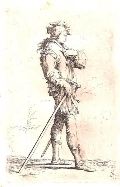 Salvator ROSA (Arenella, 1615 – 1673) – SOLDATO DI PROFILO CON ARMATURA ANTICA