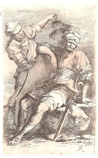 Salvator ROSA (Arenella, 1615 – 1673) – SOLDATO IN RIPOSO E UOMO IN PIEDI