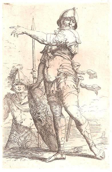 Salvator ROSA (Arenella, 1615 – 1673) – DUE SOLDATI