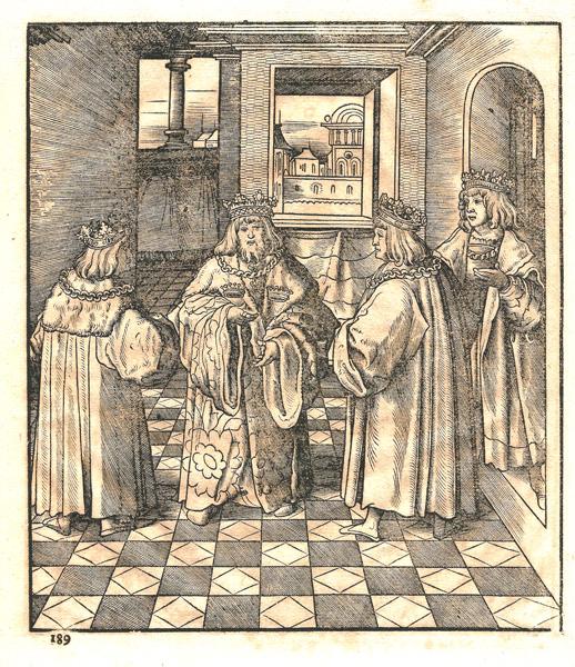 Leonhard BECK (Baviera, circa 1480 – 1542) – L'ALLEANZA DEI QUATTRO RE