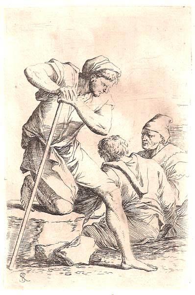 Salvator ROSA (Arenella, 1615 – 1673) – TRE CONTADINI