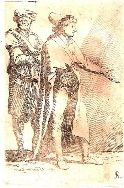 Salvator ROSA (Arenella, 1615 – 1673) – GIOVANE SEGUITO DA UN SERVO