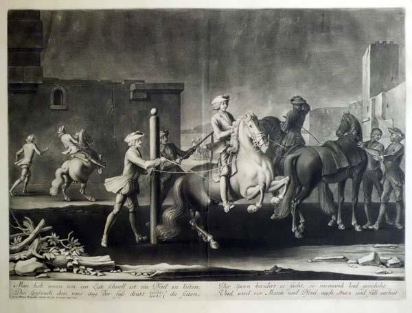 Georg Philippe RUGENDAS (Augsbourg, 1666 – 1742) – IL MANEGGIO