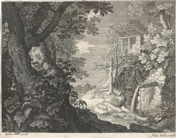 Aegidius SADELER (Fiandre, 1570 – 1629) – UOMINI BEVONO IN UNA LOCANDA