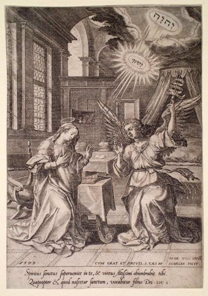 Ian SADELER (Fiandre, 1550 – 1600) – L'ANNUNCIAZIONE (1579)