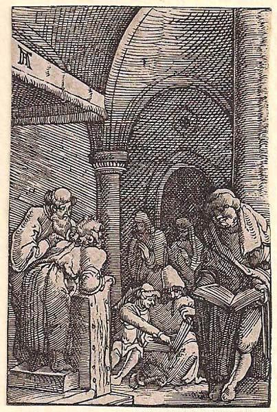 Albrecht ALTDORFER (Baviera, c.a 1480 – 1538) – GESU' FRA I DOTTORI DELLE SCRITTURE