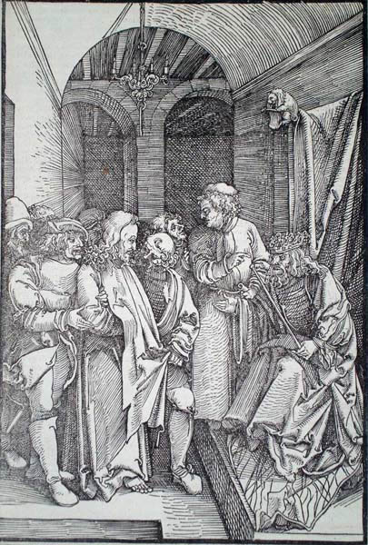Hans Leonhard SCHAUFELEIN (Norimberga, circa 1490 – circa 1540) – CRISTO DI FRONTE AD ERODE (1506)