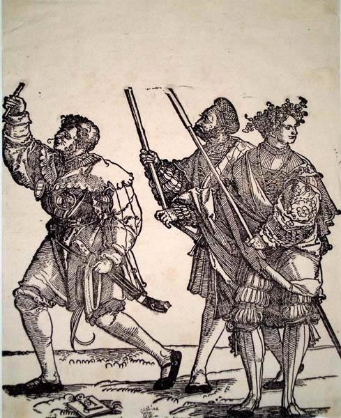 Hans Leonhard SCHAUFELEIN (Norimberga, circa 1490 – circa 1540) – TRE UOMINI