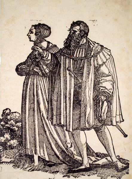 Hans Leonhard SCHAUFELEIN (Norimberga, circa 1490 – circa 1540) – COPPIA CHE DANZA