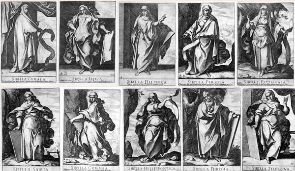 Raffaello SCHIAMINOSSI (Borgo San Sepolcro, c.a 1570 – 1622) – LE DIECI SIBILLE (1609)
