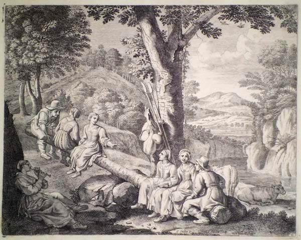 Claudine Bouzonnet STELLA (Francia, 1636 – 1697) – IL DONDOLO