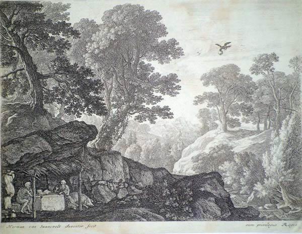 Hermann Van SWANEVELT (Olanda, 1620 – 1690) – I SANTI PAOLO E ANTONIO