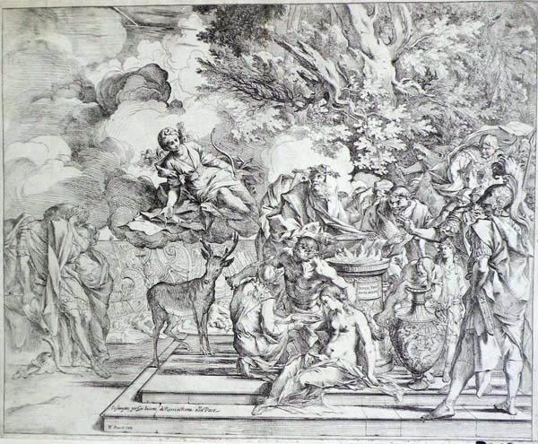 Pietro TESTA (Lucca, 1611 – 1650) – IL SACRIFICIO DI IFIGENIA (1640 circa)