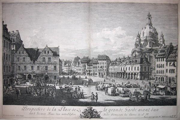 Bernardo BELLOTTO (Venezia, 1721 – 1780) – IL MERCATO NUOVO DI DRESDA (1750)