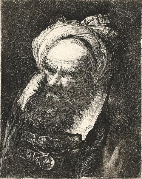 Giandomenico TIEPOLO (Venezia, 1727 – 1804) – VECCHIO CON TURBANTE