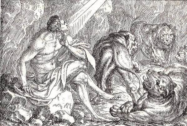 Jonas UMBACH (Baviera, circa 1642 – 1693) – DANIELE NELLA FOSSA DEI LEONI