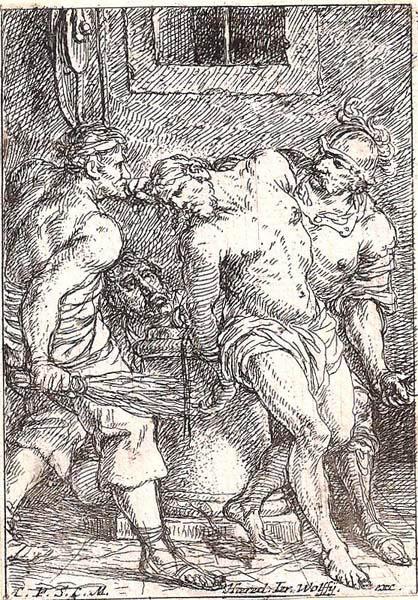 Jonas UMBACH (Baviera, circa 1642 – 1693) – LA FLAGELLAZIONE