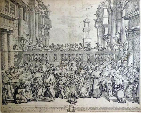 Giovan Battista VANNI (Firenze o Pisa, 1599 – 1660) – LE NOZZE DI CANA da: il Veronese