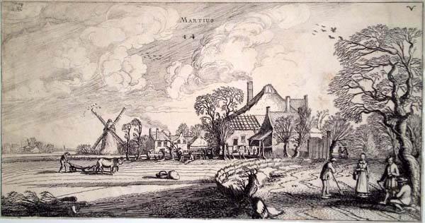 Jan Van de VELDE (Olanda, 1593 – 1641) – MARZO