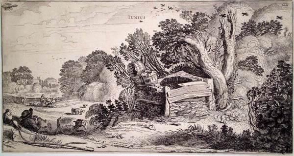 Jan Van de VELDE (Olanda, 1593 – 1641) – GIUGNO