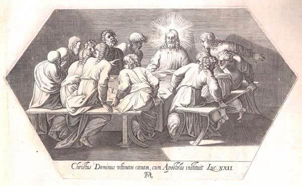 Francesco VILLAMENA (Assisi, circa 1566 – 1624) – L'ULTIMA CENA da Raffaello