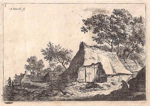 Antoni WATERLOO (Olanda, 1618 – 1662) – LA PICCOLA FATTORIA