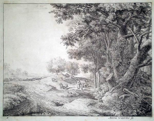 Antoni WATERLOO (Olanda, 1618 – 1662) – IL CONTADINO CON LA VANGA