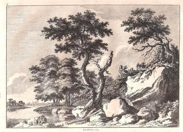 Franz Edmund WEIROTTER (Austria, 1733 – 1771) – ALBERI LUNGO LA RIVA DEL FIUME