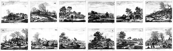 Franz Edmund WEIROTTER (Austria, 1733 – 1771) – I DODICI MESI da P. Molyn (1758-60)