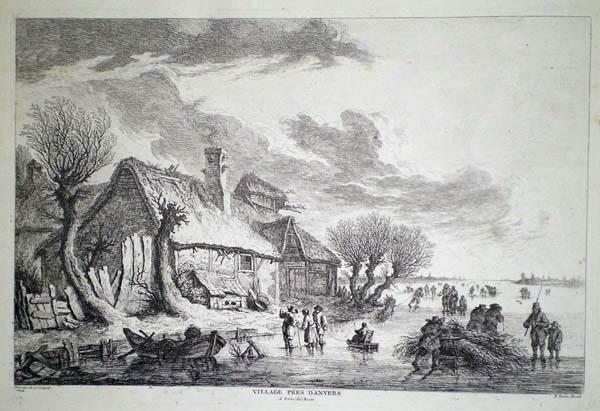 Franz Edmund WEIROTTER (Austria, 1733 – 1771) – VILLAGGIO VICINO AD ANVERS (1760 circa)