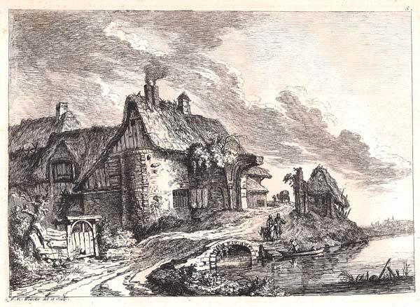 Franz Edmund WEIROTTER (Austria, 1733 – 1771) – CASA DI CAMPAGNA SUI RESTI DI UNA ROVINA