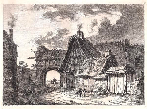 Franz Edmund WEIROTTER (Austria, 1733 – 1771) – PORTA DELLA CITTÀ APERTA
