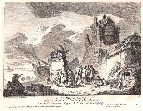Franz Edmund WEIROTTER (Austria, 1733 – 1771) – AVVISO CON LE NOVITÀ GIORNALIERE