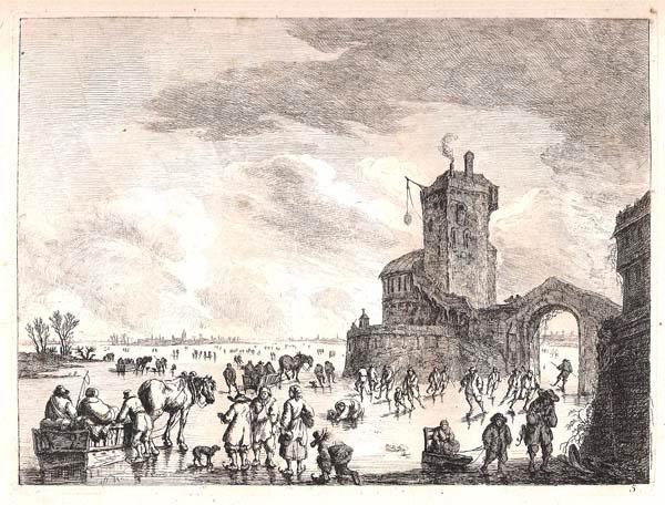 Franz Edmund WEIROTTER (Austria, 1733 – 1771) – DIVERTIMENTO INVERNALE SULLA SENNA GHIACCIATA