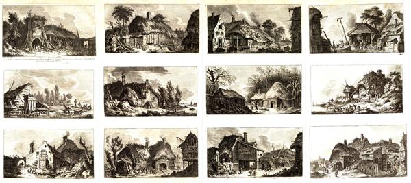 Franz Edmund WEIROTTER (Austria, 1733 – 1771) – PAESAGGI DEDICATI A MONSIEUR WILLE (1763-5)