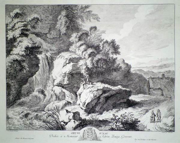 Franz Edmund WEIROTTER (Austria, 1733 – 1771) – LA CASCATA da C. W. E. Dietrich (1765 circa)