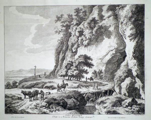 Franz Edmund WEIROTTER (Austria, 1733 – 1771) – IL PONTE RUSTICO da C. W. E. Dietrich (1765 circa)