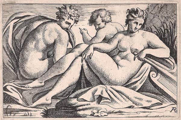 Alexandre BETOU (Fontainebleau, attivo nel 1657) – BACCO E ARIANNA dal Primaticcio