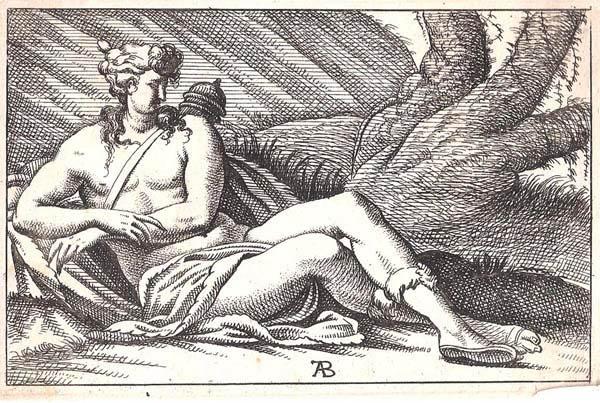 Alexandre BETOU (Fontainebleau, attivo nel 1657) – DIANA dal Primaticcio