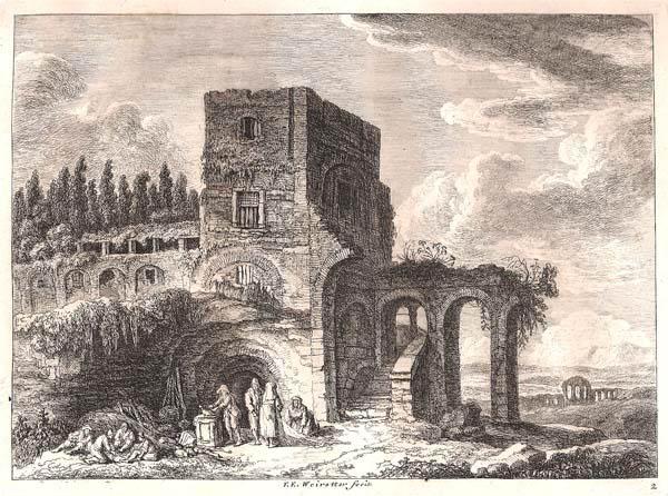 Franz Edmund WEIROTTER (Austria, 1733 – 1771) – PRESSO SAN GIOVANNI IN LATERANO