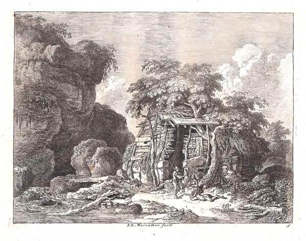 Franz Edmund WEIROTTER (Austria, 1733 – 1771) – FUORI VITERBO