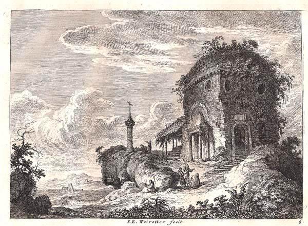 Franz Edmund WEIROTTER (Austria, 1733 – 1771) – FRASCATI, FUORI ROMA