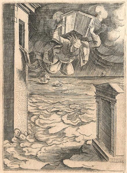 Giulio BONASONE (Bologna, circa 1498 – 1580) – CLEOMBROTO SI LANCIA IN MARE