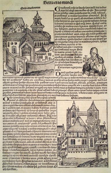 Michael WOHLGEMUT (Norimberga, 1434 – 1519) – ORDO CRUCIFERORUM e ORDO CARMELITARUM